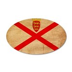 Jersey Flag 38.5 x 24.5 Oval Wall Peel