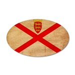 Jersey Flag 22x14 Oval Wall Peel