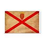 Jersey Flag Car Magnet 20 x 12