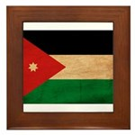 Jordan Flag Framed Tile