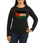 Jordan Flag Women's Long Sleeve Dark T-Shirt