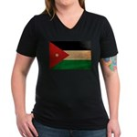 Jordan Flag Women's V-Neck Dark T-Shirt