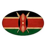 Kenya Flag Sticker (Oval)