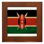 Kenya Flag Framed Tile