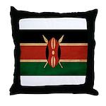 Kenya Flag Throw Pillow