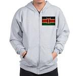 Kenya Flag Zip Hoodie