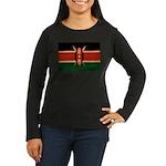 Kenya Flag Women's Long Sleeve Dark T-Shirt