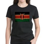 Kenya Flag Women's Dark T-Shirt