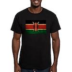 Kenya Flag Men's Fitted T-Shirt (dark)