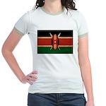 Kenya Flag Jr. Ringer T-Shirt