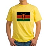 Kenya Flag Yellow T-Shirt
