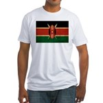 Kenya Flag Fitted T-Shirt