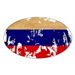 Russia Flag Sticker (Oval 50 pk)