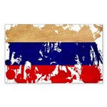 Russia Flag Sticker (Rectangle)