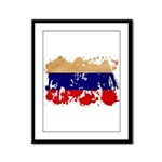 Russia Flag Framed Panel Print