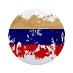 Russia Flag Ornament (Round)