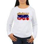 Russia Flag Women's Long Sleeve T-Shirt