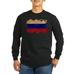 Russia Flag Long Sleeve Dark T-Shirt