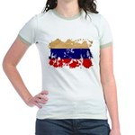Russia Flag Jr. Ringer T-Shirt