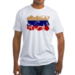 Russia Flag Fitted T-Shirt