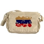 Russia Flag Messenger Bag