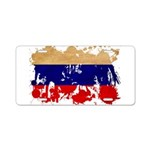 Russia Flag Aluminum License Plate