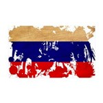 Russia Flag 38.5 x 24.5 Wall Peel