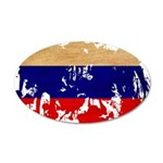 Russia Flag 38.5 x 24.5 Oval Wall Peel