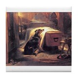 Landseer's Mourner Greyhound Coaster