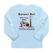 1st Birthday Football Long Sleeve Infant T-Shirt