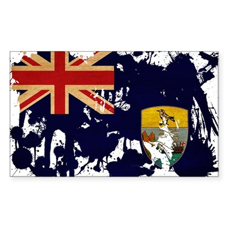 Saint Helena Flag Sticker (Rectangle)