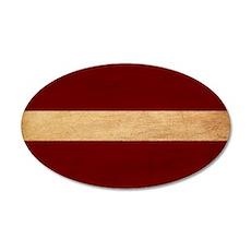 Latvia Flag 38.5 x 24.5 Oval Wall Peel