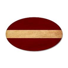 Latvia Flag 22x14 Oval Wall Peel