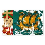 Saint Pierre and Miquelon Fla Sticker (Rectangle 5