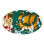 Saint Pierre and Miquelon Fla Sticker (Oval 10 pk)