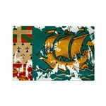 Saint Pierre and Miquelon Fla Rectangle Magnet