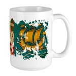 Saint Pierre and Miquelon Fla Large Mug