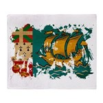 Saint Pierre and Miquelon Fla Throw Blanket