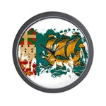 Saint Pierre and Miquelon Fla Wall Clock