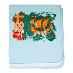 Saint Pierre and Miquelon Fla baby blanket