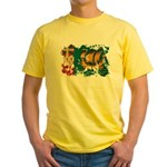 Saint Pierre and Miquelon Fla Yellow T-Shirt