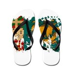 Saint Pierre and Miquelon Fla Flip Flops