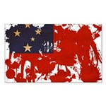 Samoa Flag Sticker (Rectangle 10 pk)