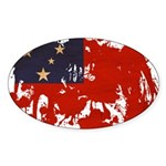 Samoa Flag Sticker (Oval 10 pk)