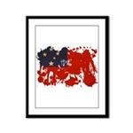 Samoa Flag Framed Panel Print