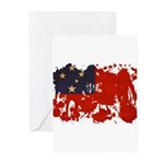 Samoa Flag Greeting Cards (Pk of 10)