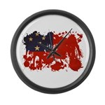 Samoa Flag Large Wall Clock