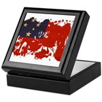 Samoa Flag Keepsake Box