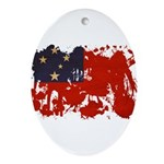 Samoa Flag Ornament (Oval)