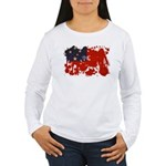 Samoa Flag Women's Long Sleeve T-Shirt